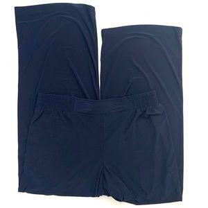 Iman 32x29 Pull On Stretch Wide Leg Pants Navy